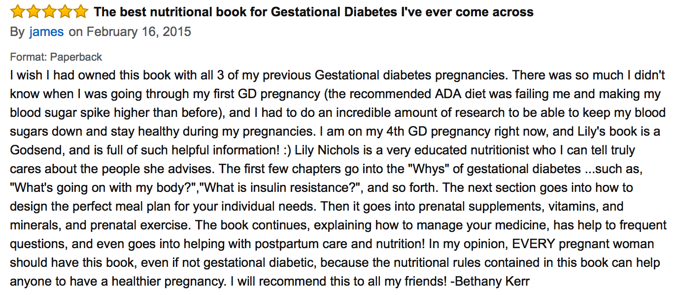 book - real food for gestational diabetes